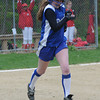 Georgetown: Georgetown's Cally O'Connor heads to first during the Royal's game aqainst Amesbury Monday . Jim Vaiknoras/Staff photo