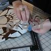 Rowley: Elizabeth Berthoud  of Rowley works on her leather handbags at her home studio. Jim Vaiknoras/Staff photo