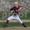 Newburyport:Newburyport's DJ Grabowski pitches against Maimonides<br /> Sunday at teh Lower Field . Jim Vaiknoras/Staff photo