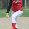 Georgetown:  Amesbury's Christina Chase Carolina Merrill pitches at Georgetown Monday..Jim Vaiknoras/Staff photo