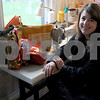 Rowley: Elizabeth Berthoud  of Rowley with her  leather handbags at her home studio. Jim Vaiknoras/Staff photo