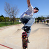 "Newburyport:Tyler Bain of West Newbury competes in the ""Bowls of Steez""<br /> at Newburyport Skatepark Saturday afternoon. The contest was part of a funraiser for the park sponsored by Steez Magazine. Jim Vaiknoras/Staff photo"