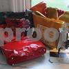 "Rowley: Elizabeth Berthoud  of Rowley""s  leather handbags at her home studio. Jim Vaiknoras/Staff photo"