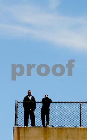 Newburyport: Baseball fans watch Newburyport's game against Maimonides<br /> Sunday from the top of War Memorial Stadium. Jim Vaiknoras/Staff photo