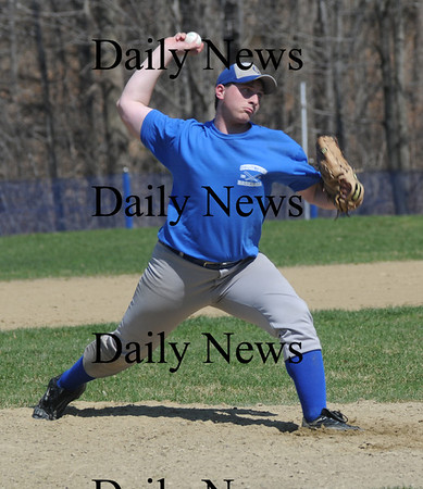 Georgetown:Georgetown's Andrew Sinkewics pitches during the Royal's scrimmage against Marbehead at Georgetown Saturday. Jim Vaiknoras/Staff photo
