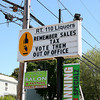 Amesbury: The sign outside Rt. 110 Liquors in Amesbury reminds local shoppers that Massachusetts recently raised the state sales tax. Liquor stores in the area are particularly affected due to the proximity of tax free New Hampshire. Photo by Ben Laing/Staff Photo