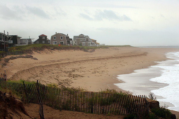 Newbury: The north side of the beach at Plum Island Center faces another bout with erosion after Monday's nor'easter pound the shore with high waves. Photo by Ben Laing/Staff Photo
