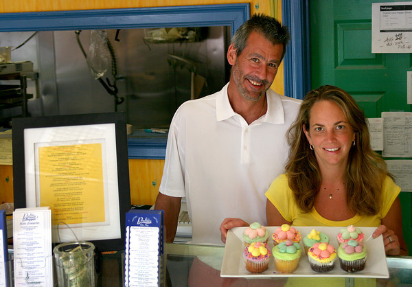 "Newburyport: Ron and Rhonda Weisheit, owners of Pralines and Pepper in downtown Newburyport, have been selected to audition for the Food Network's upcoming television show, ""Cupcake Wars"". Photo by Ben Laing/Staff Photo"