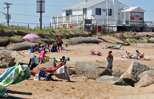 Newbury: The beach at Plum Island center, once devestated by erosion, has began to fill in, just in time for the summer weather. Photo by Ben Laing/Staff Photo