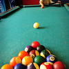Salisbury: Cody Merrill,6, doesn't necessarily need a pool cue when playing opting to just roll the cue ball. He was playing in the game room at the Boys and Girls Club in Salisbury. Bryan Eaton/Staff Photo
