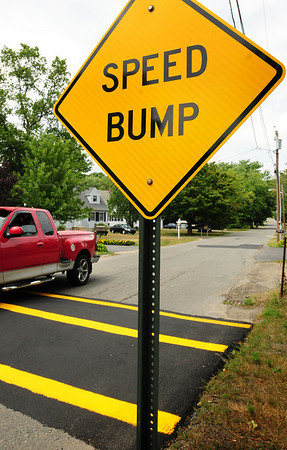 Amesbury: Three well-marked speed bumps have been installed on Amidon Avenue in Amesbury. Bryan Eaton/Staff Photo