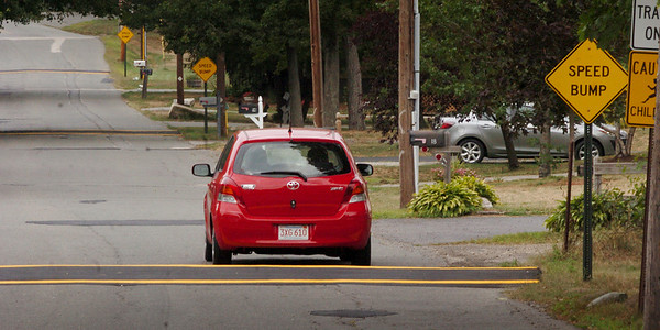 Amesbury: Amidon Avenue, a connector between Monroe and Elm Streets in Amesbury, has had three speedbumps installed. Bryan Eaton/Staff Photo