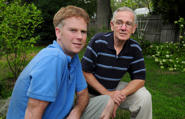 Newburyport: Justin Thomas will be receiving a kidney from his father, Richard. Bryan Eaton/Staff Photo