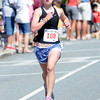 Newburyport: Winner of the women's 15 and under heat Sarah Keiran in the High Street Mile . Jim Vaiknoras/Staff photo