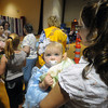 Seabrook: Haily Marie Johnson waits the result with her mom Misty Stimson at the Seabrook Community Center for the Baby Seabrook Pageant Saturday. Jim Vaiknoras/Staff photo