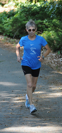 West Newbury: Runner Mary Harada of West Newbury. Jim Vaiknoras/Staff photo