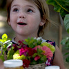 West Newbury:Neve Bonura-Learnard looks over the flowers and honey for sale at the Family Fun Day at the Laurel Grange in West Newbury Sunday. Jim Vaiknoras/Staff photo