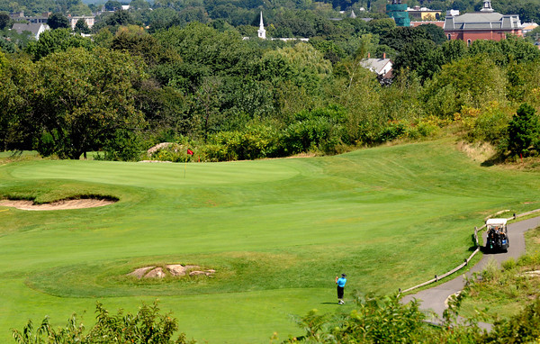 Peabody: The 5th hole at the Meadow in Peabody, playing 418 from the  Championship tees. Jim Vaiknoras/Staff photo