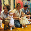 Seabrook: Girls 0-12 month line the stage at the Seabrook Community Center for the Baby Seabrook Pageant Saturday. Jim Vaiknoras/Staff photo