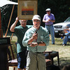Byfield: Auctioneer John McGinnis at the Pearson Homestead auction in Byfield Friday afertnoon. Jim Vaiknoras/Staff photo