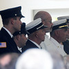Byfield: Local Fire fighters attend the funeral of Byfield resident Arthur Allen  which was held at the Byfield Fire Station Friday. Jim Vaiknoras/Staff photo