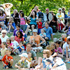 Newburyport: A crowd watches the activities on the main stage at Yankee Homecoming's Family Day at Maudslay Saturday afternoon.  Jim Vaiknoras/Staff photo