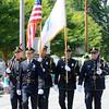 Newburyport: The Newburyport Police Color Guard heads down High Street in the Yankee Homecoming Parade Sunday. Jim Vaiknoras/Staff photo