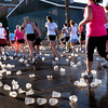 Newburyport: Hundreds of water cups litter Water Street, aptly named, as runners needed lots of hydration running the Yankee Homecoming 5K and 10 Mile Races during temperatures in the mid-80's last night. Bryan Eaton/Staff Photo