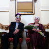 Newburyport: The Senior King and Queen of Yankee Homecoming were crowned Wednesday afternoon at Atria at Merrimack Place in Newburyport. Lucien Lacroix and Priscilla Kime were recognized for their many volunteer efforts. Photo by Ben Laing/Staff Photo