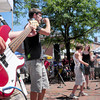 Newburyport: The audience in Market Square gave enthusiastic applauses to the differen songs from the teen band Audio Rush early yesterday afternoon. Bryan Eaton/Staff Photo