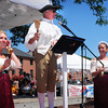 Newburyport: Town Crier Charlie Cullen gives yesterday's announcments in Newburyport's Market Square. Bryan Eaton/Staff Photo