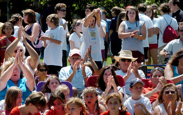 Newburyport: There was lots of applause to go around for the participants of the Kids Talent Showcase at Market Landing Park yesterday. Bryan Eaton/Staff Photo