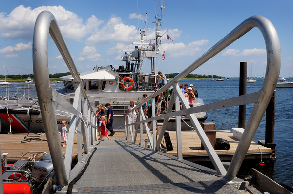 Newburyport: The U.S. Coast Guard station opened to the public for tours yesterday with many youngsters touring the 44-foot motor lifeboat pictured. Bryan Eaton/Staff Photo