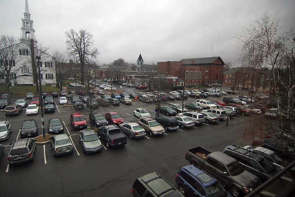 Newburyport: The parking lot on Green Street in downtown Newburyport is one of several city owned lots that will charge for parking if Mayor Holaday's proposed parking plan is passed by the City Council. Photo by Ben Laing/Staff Photo