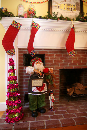 Newburyport: Santa and carefully hung stockings are part of the decor at 343 High Street, one of several homes on this Saturday's Holiday House Tour. Photo by Ben Laing/Staff Photo