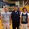 Byfield: Ryan Souliotis, head boys basketball coach at Triton, is flanked by his brother Dan, left, the new freshman basketball coach, and his brother Matt, a freshman on the varsity team. Photo by Ben Laing/Staff Photo