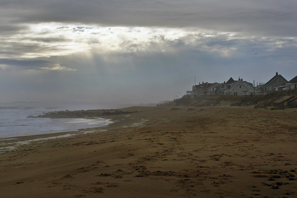 Newbury: The sun breaks through the clouds and the fog along Plum Island Monday morning. Photo by Ben Laing/Staff Photo