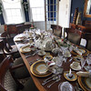 Newburyport: The places are set for Christmas dinner at 182 High Street, one of several homes on this Saturday's Holiday House tour. Photo by Ben Laing/Staff Photo