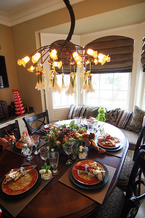 Newburyport: The places are set for Christmas dinner at 182 High Street, one of several houses on this year's Holiday House Tour. Photo by Ben Laing/Staff Photo