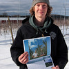 Amesbury: Chadd Cook of Cider Hill Farm in Amesbury shows off one of several pictures selected for the Massachusetts Department of Agriculture Resources 2011 calandar. Photo by Ben Laing/Staff Photo
