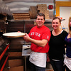 Amesbury: Rob Tersolo and his wife, Brooke, have re-opened Amesbury House of pizza also employing their daughter, Brianna, 17, right. Bryan Eaton/Staff Photo
