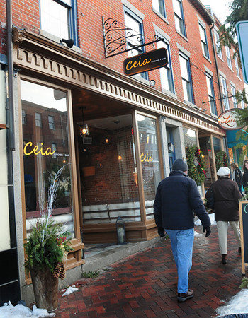 Newburyport: Ceia Kithchen + Bar on State Street in Newburyport, one of the new dining spots in the area. Bryan Eaton/Staff Photo