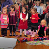 "Newburyport: Youngsters from the Newburyport Montessori School sing ""This Little Light of Mine"" yesterday morning. They were upstairs at City Hall for their Annual Winter Peace Festival. Bryan Eaton/Staff Photo"