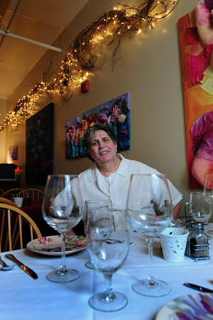 Amesbury: Tony Ortu reopened his Wild Bites restaurant in downtown Amesbury after a stint in Merrimac, with a cafe in front, and more formal dining her in the Tuscan Room out back. Bryan Eaton/Staff Photo