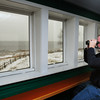 Newburyport: Audubon's David Larson will be part of a bird count on Sunday outside, though some people can do some spotting from the comfort of this view area of the Joppa Flats Education Center. Bryan Eaton/Staff Photo