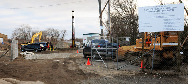 Amesbury: Site work is underway at the Costello Transportation Center in downtown Amesbury. Bryan Eaton/Staff Photo