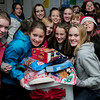Salisbury: The Salisbury Elementary School student council was in the spirit of giving as they dropped off a  large basket of food donations to the Pettengill House on Friday afternoon. Bryan Eaton/Staff Photo
