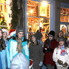 Newburyport : The Stairwell Singers from the Brookwood School in Manchester-by-the Sea perform on State Street in Newburyport during Invitiation Nigh Friday. Jim Vaiknoras/Staff photo