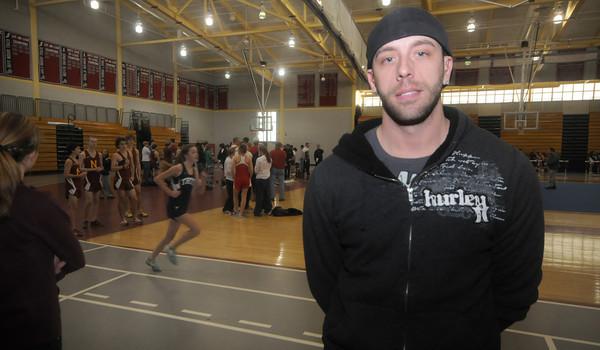 North Andover: Triton assistant track coach Graham Eaton<br /> JIm Vaiknoras/Staff photo
