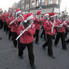 Amesbury: The Amesbury high school band marches in the annual Santa Parade in Amesbury Saturday. Jim Vaiknoras/Staff photo